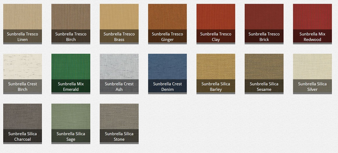 Retractable Awning Fabric Colors