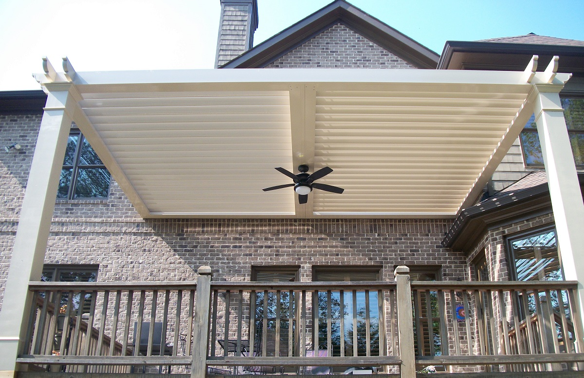 Louvered Adjustable Pergola Patio Cover